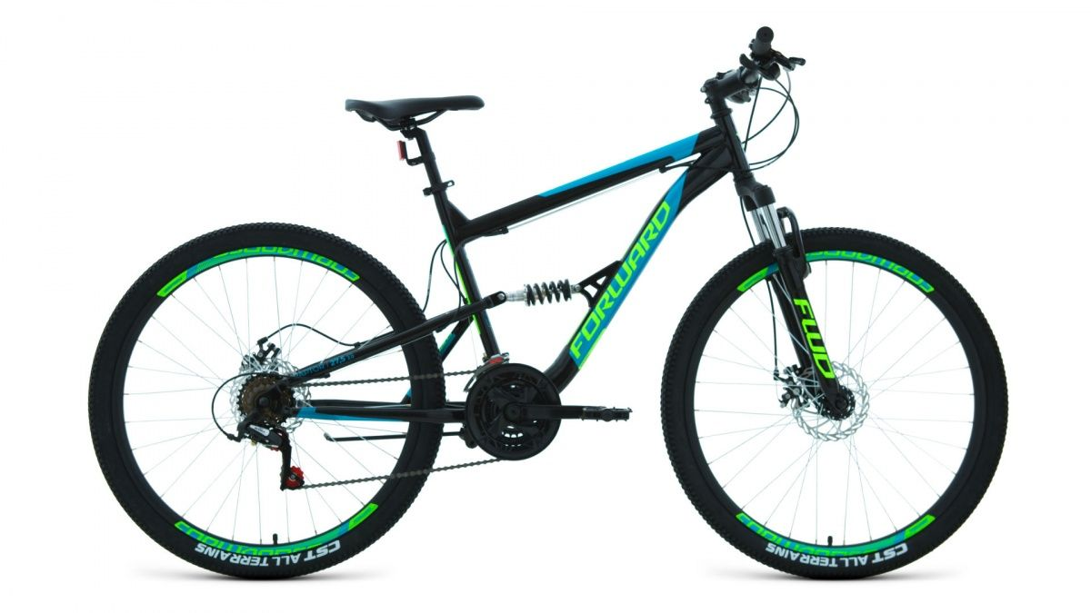 Велосипед Forward Raptor 27.5 2.0 disc (2020) black/turquoise