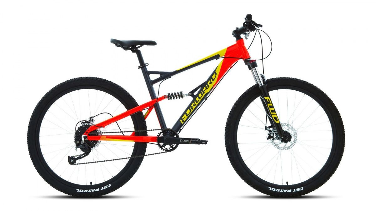 Велосипед Forward Flare 27.5 2.0 disc (2020) gray/red